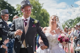 confetti at Coombe Abbey Hotel