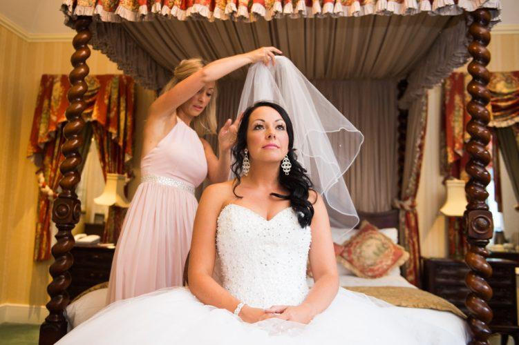 Bride preparation at Brandon Hall by MK Wedding Photography