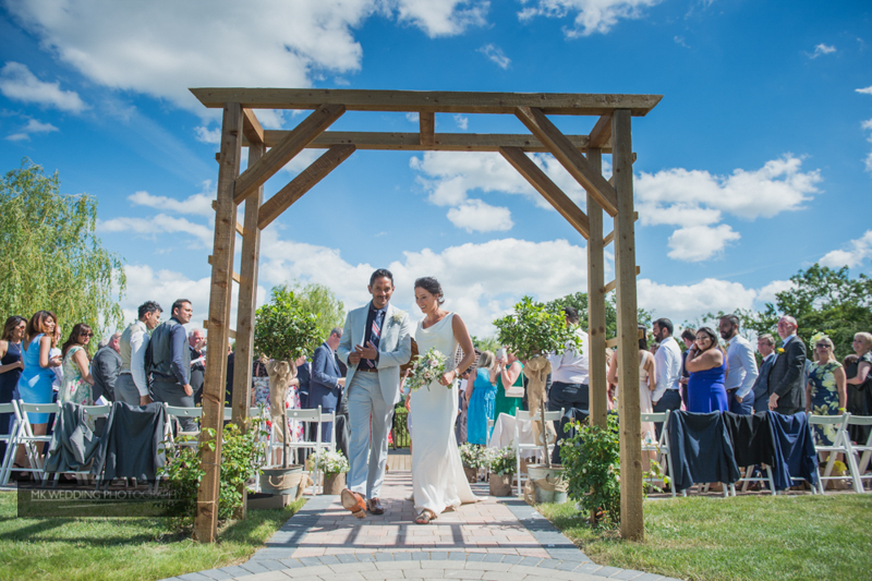 wedding ceremony at Wootton park