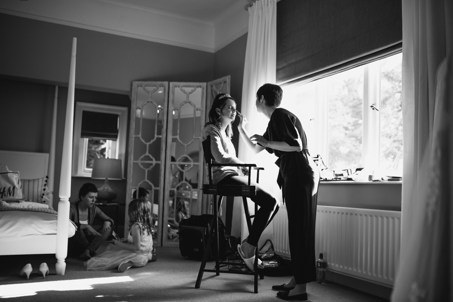 Bride preparation by west midlands wedding photographer - MK Wedding Photography
