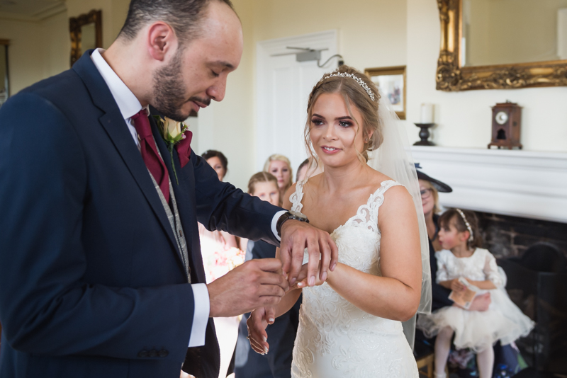 exchanging rings coventry by MK Wedding Photography