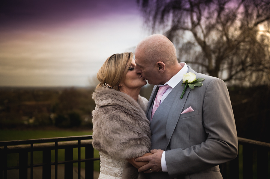 winter wedding day in West Midlands
