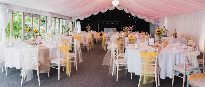 Wedding decorations at Ashton Lodge captured by MK Wedding Photography