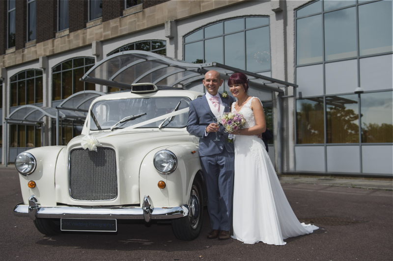 taxi wedding car on a photos created by MK Wedding Photography