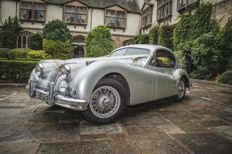 Jaguar Wedding car by Mk Wedding Photography