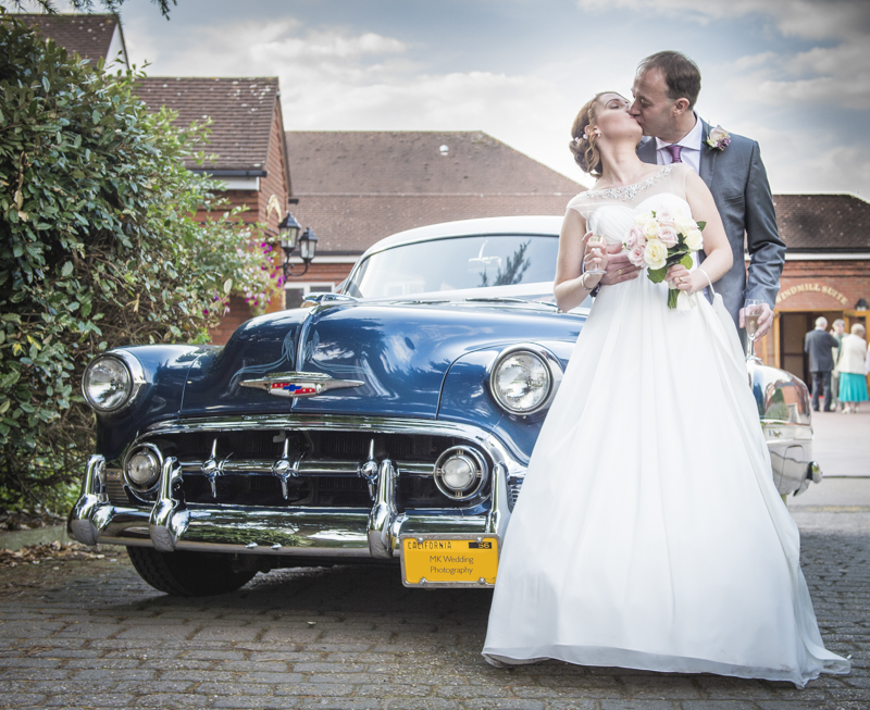 Chevrolette Wedding car by Mk Wedding Photography