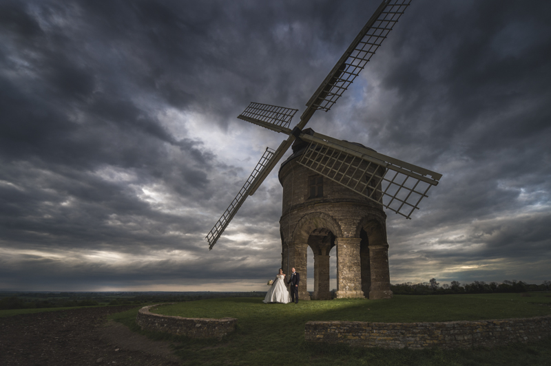 wedding session at Chesterton Windmill near Warwick House wedding venue