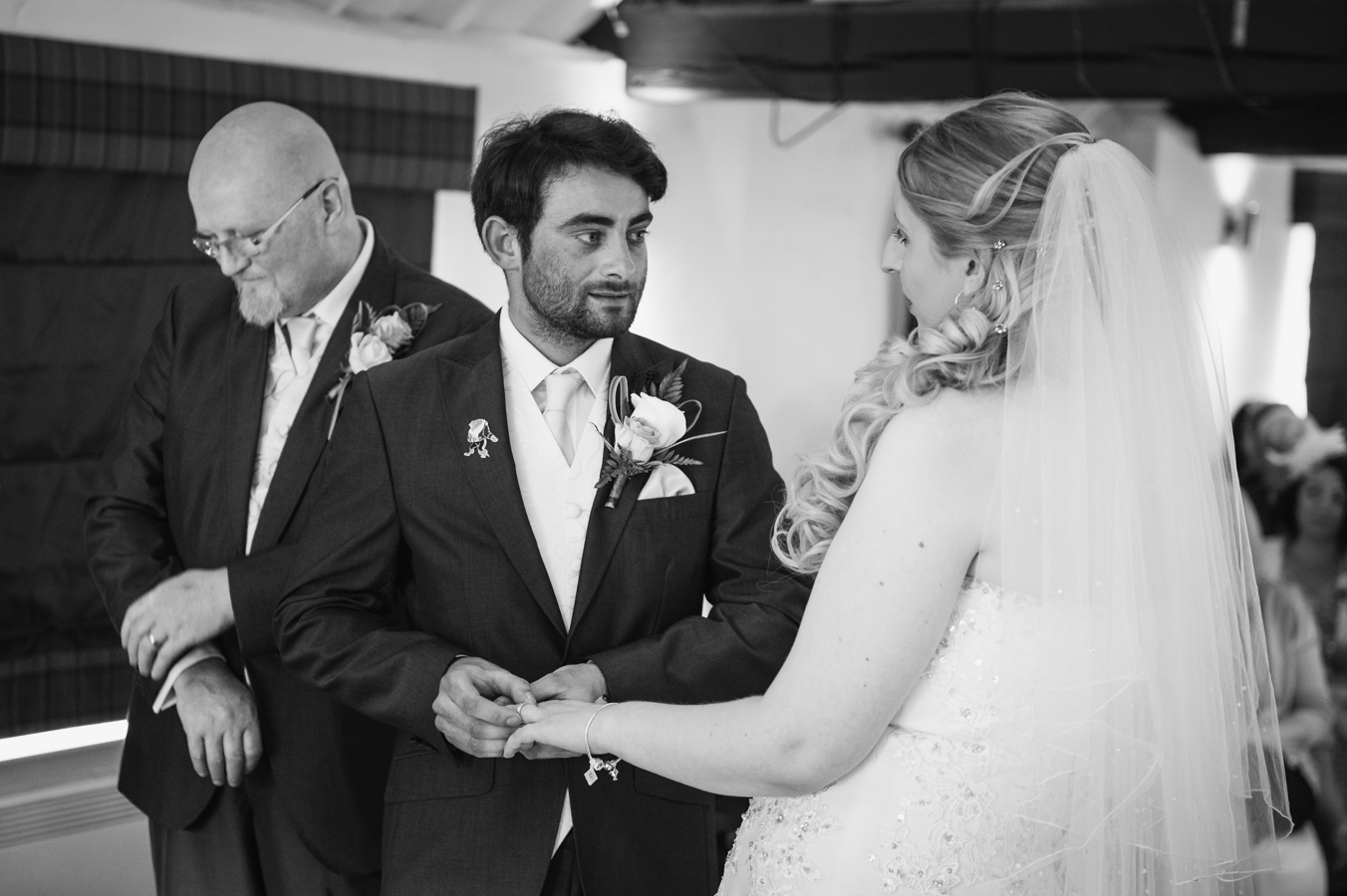 exchanging rings at windmill village hotel coventry.