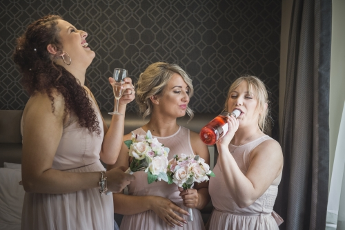 bride preparation by west midlands wedding photographer