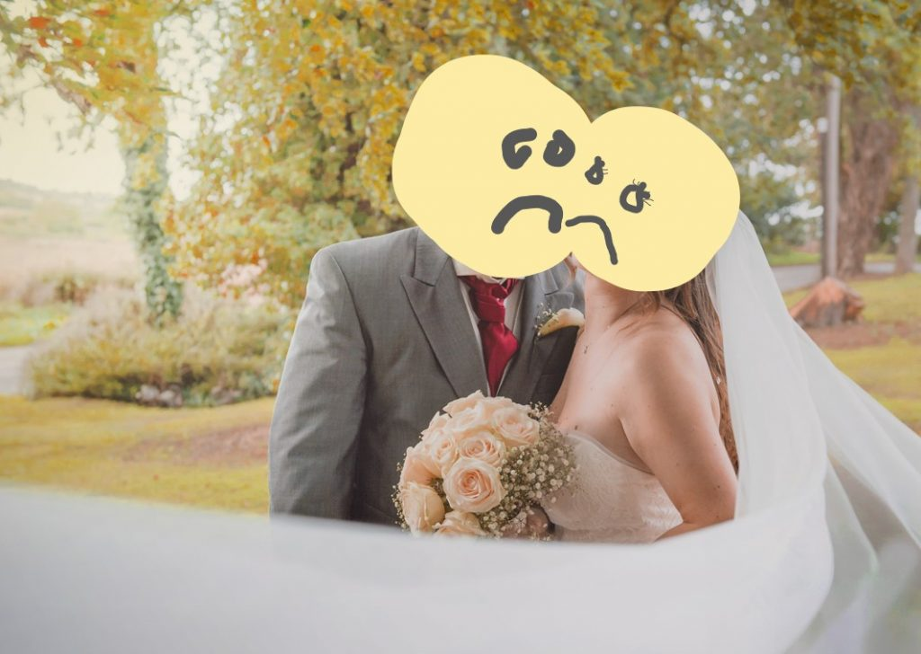 unhappy from your wedding photos