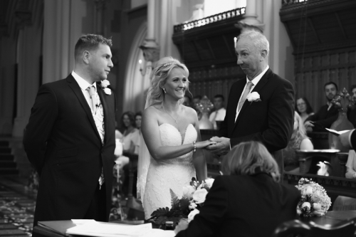 wedding ceremony at stenbrook abbey hotel captured by mk wedding photography