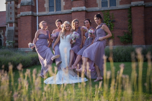 Stanbrook Abbey hotel the bride and bridesmaids mk wedding photography