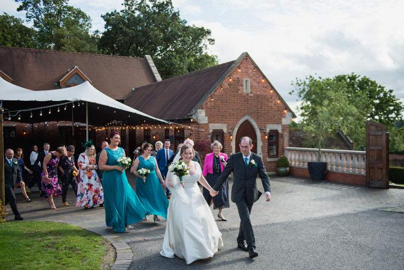 Wedding party at Nuthurst Grange